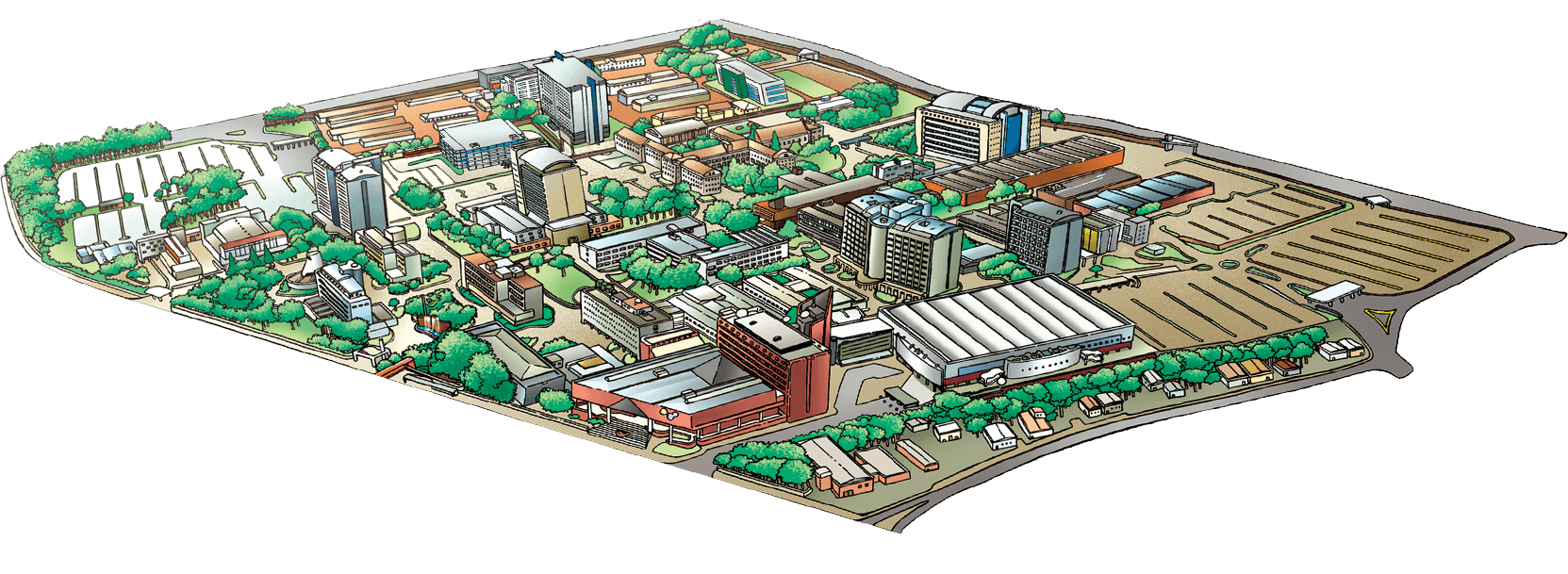 Mapa do Campus da PUCRS