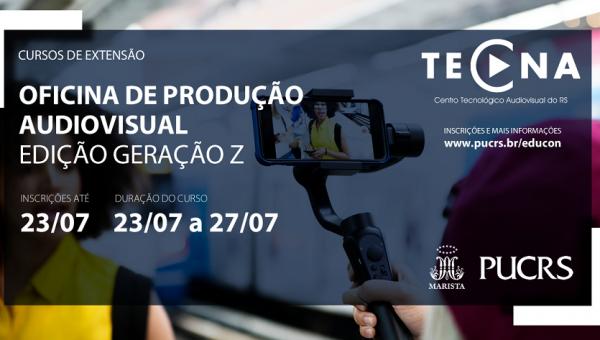 Tecna promove oficina de produção audiovisual para o público adolescente