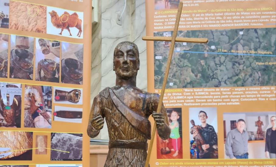 Arte missioneira: professor da PUCRS avaliou escultura com mais de 300 anos