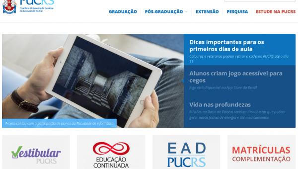 Portal da PUCRS tem novo layout