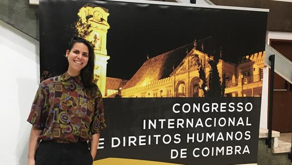 Estudante de Direito apresenta pesquisa na Universidade de Coimbra, em Portugal