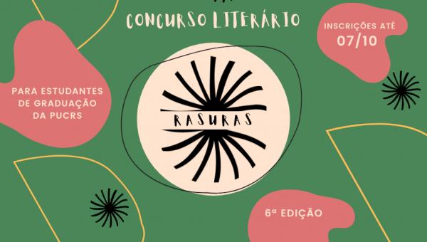 Concurso Literário Rasuras abre inscrições para estudantes de graduação da PUCRS
