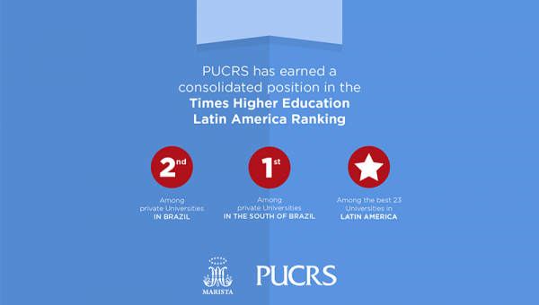 PUCRS is 2nd Best Private University in Brazil according Times Higher Education– World University Rankings