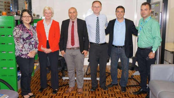 Delegation from the Falkland Islands and the British Embassy in Brasilia visit PUCRS