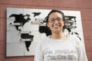 Montserrat, a Mexican student, came to PUCRS as an exchange student to learn about the Health System in Brazil. Photo: Camila Cunha - Ascom/PUCRS