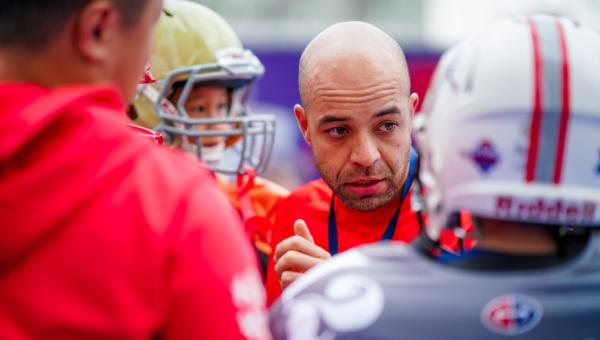 Brazilian educator coaches American football team in China