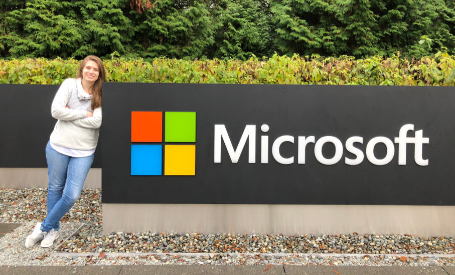 At the age of 22, she worked for Microsoft's new design project