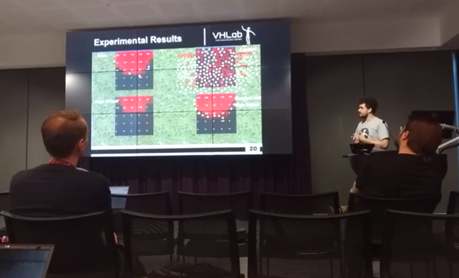 Gabriel Rockenbach presented the paper Simulating Crowd Evacuation: From Comfort to Panic Situations