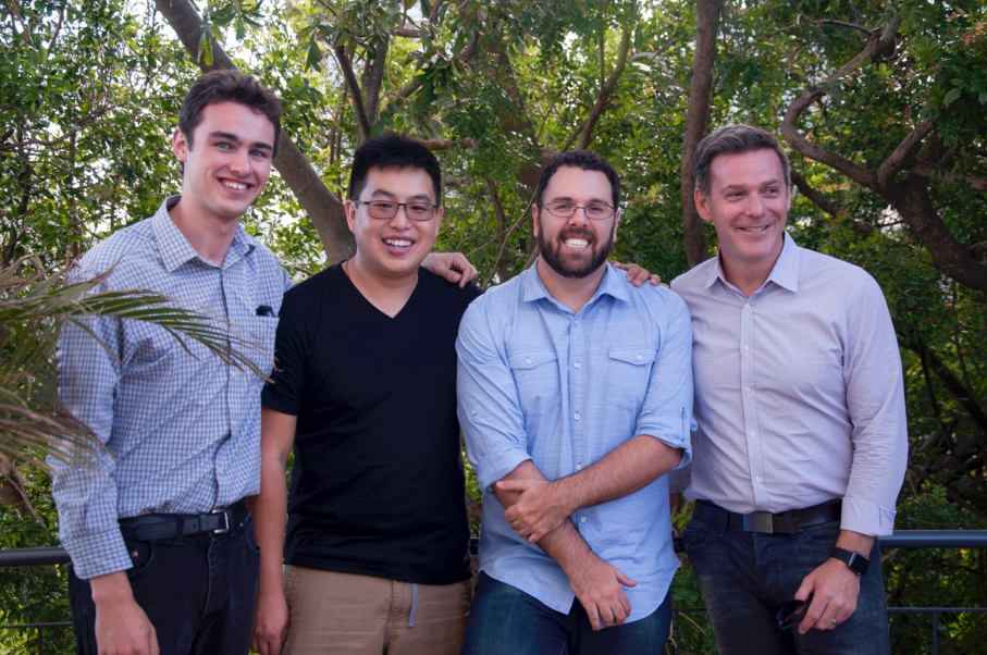 From left to right: researchers Paul Marshall, Xiang Li, Rodrigo Grassi-Oliveira, Timothy Bredy / Image: Personal Archive