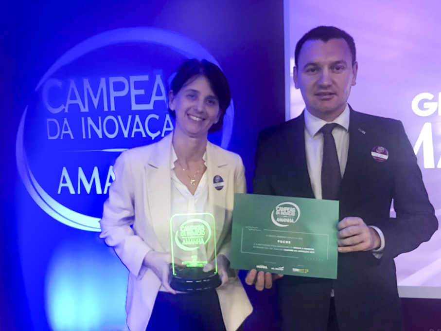 Dr Carla Bonan and Br. Manuir Mentges represented University   Image: Release
