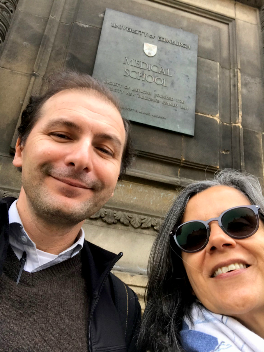 Professor Saturnino Luz and Renata Vieira at University of Edinburgh