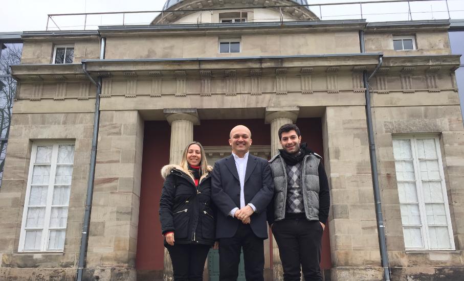 Karina Schuh Reif, Prof. Hermílio Santos and Lucas Cé Sangalli at Universität Göttingen