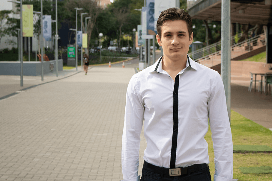 French student Aymeric Rollin will be the first student awarded a double-degree under PUCRS-ENISE agreement