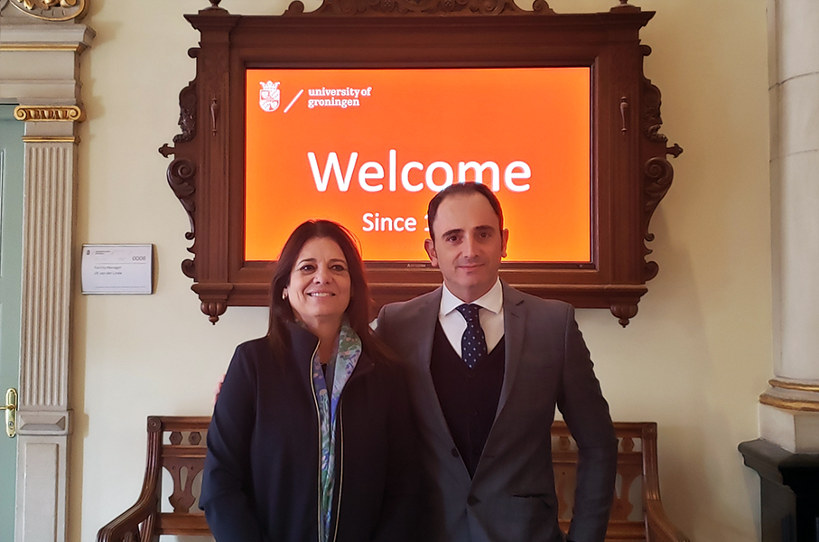 Professors Claudia Musa Fay and Antônio de Ruggiero attended the congress of the University of Groningen
