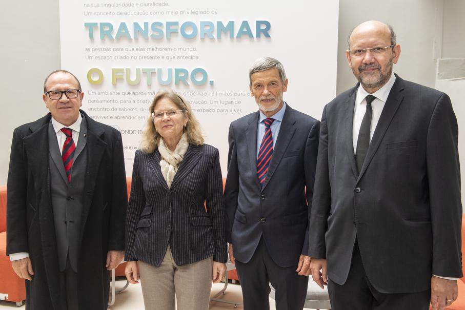 President Ir. Evilázio Teixeira, Ambassador  Irene Giner-Reichl, Reinahrd Giner and Professor Draiton Gonzaga at Living 360º | Image: Camila Cunha