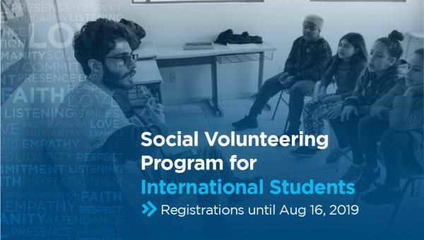 Registrations open for Social Volunteer Work for international students
