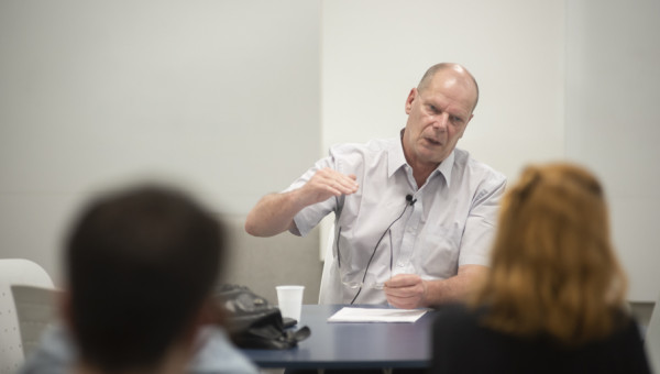 Visiting professor from France gives lecture on social imagery