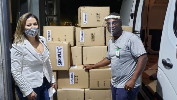More than 2,000 face shields donated to charity