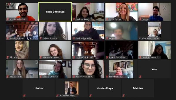 International students join virtual farewell