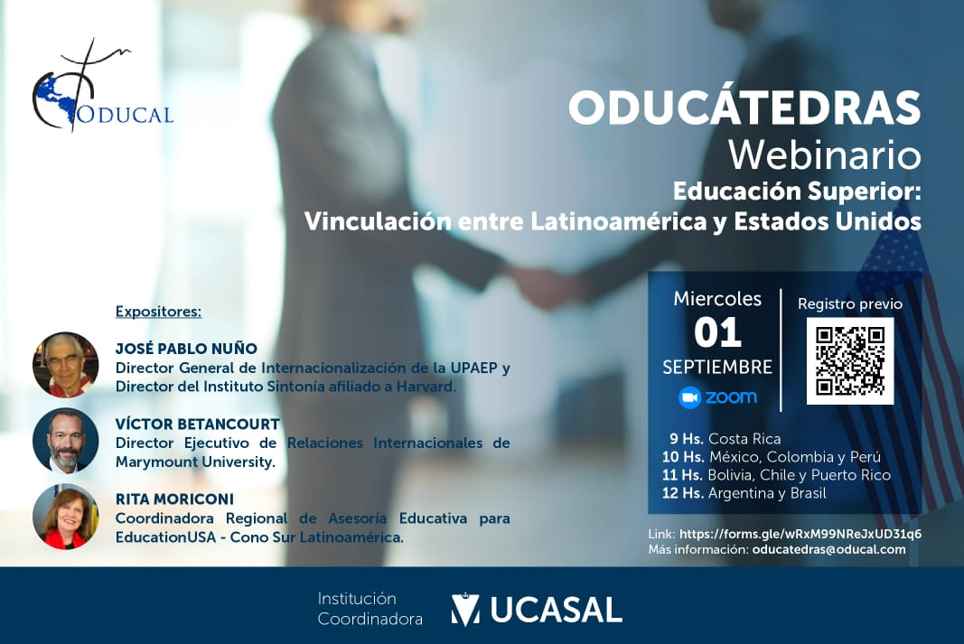 ODUCÁTEDRAS webinar discusses cooperation between Latin America and US