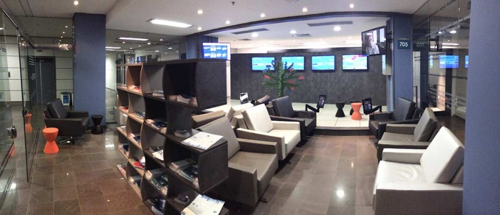 Lounge de entrada do Estúdio de Finanças