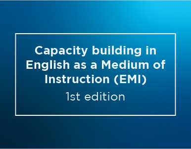 Capacity building in English as a Medium of Instruction (EMI) – 1st edition