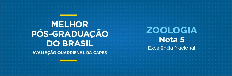 Melhor Pós-Graduação do Brasil - Zoologia, nota 5.