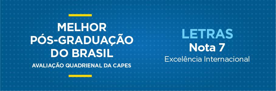Melhor Pós-Graduação do Brasil - Letras, nota 7.