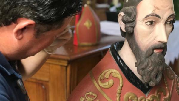 Pesquisa confirma que escultura sacra é do período das reduções jesuítas