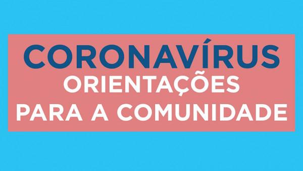 Orientações sobre o coronavírus para a Comunidade Universitária