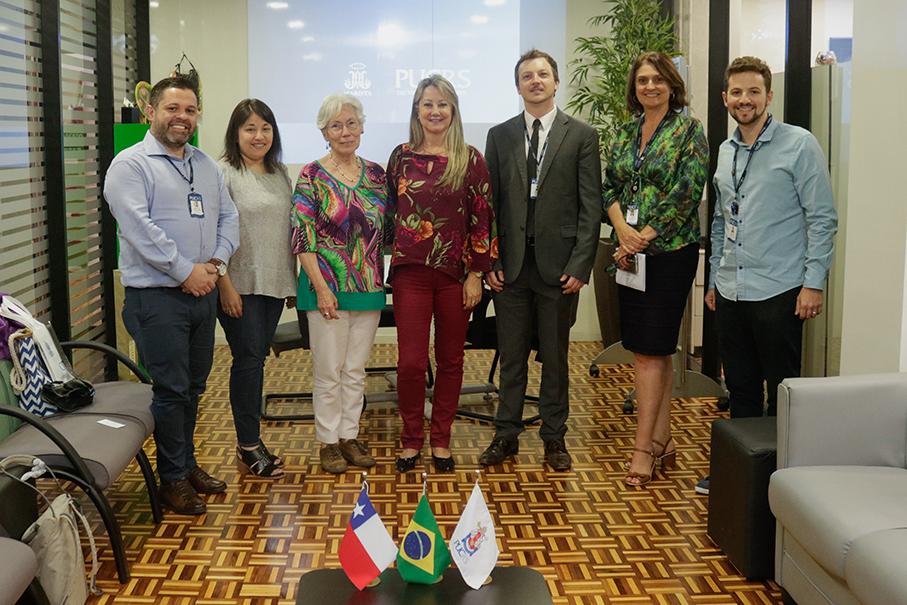 As visitantes foram recepcionadas na Assessoria de Cooperação Internacional. Foto: Thais Gonçalves