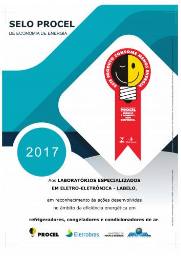 CERTIFICADO_PROCEL_2017_REFRIGERAÇÃO
