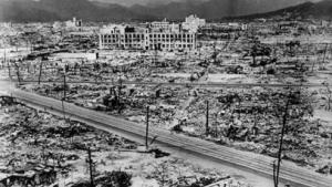 Região de Hiroshima após o impacto da bomba nuclear. Fonte: Hulton Archive/Getty Images