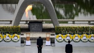 Memorial Hiroshima, em homenagem ás vítimas do bombardeio nuclear de agosto de 1945. Fonte: Reuter/Kyodo