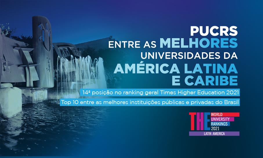 PUCRS está entre as melhores universidades da América Latina