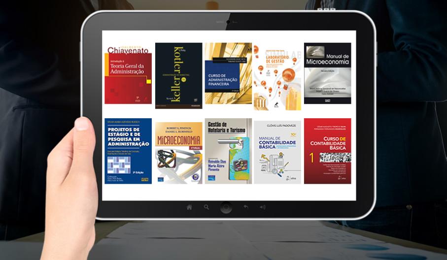 e-book, escola de negócios, biblioteca central
