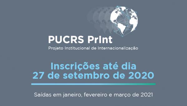 PUCRS-PrInt abre editais para saídas em 2021