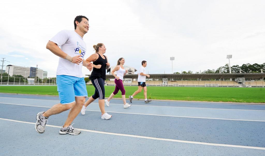 Corrida orientada no Parque Esportivo