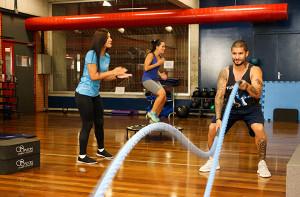 atividade física com corda