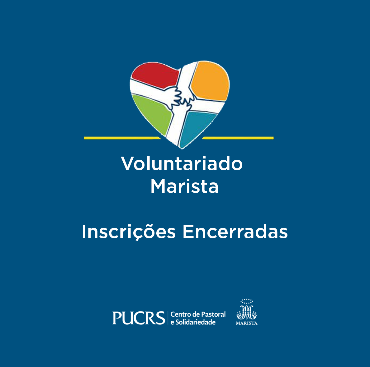 Voluntariado PUCRS: VAGAS PREENCHIDAS