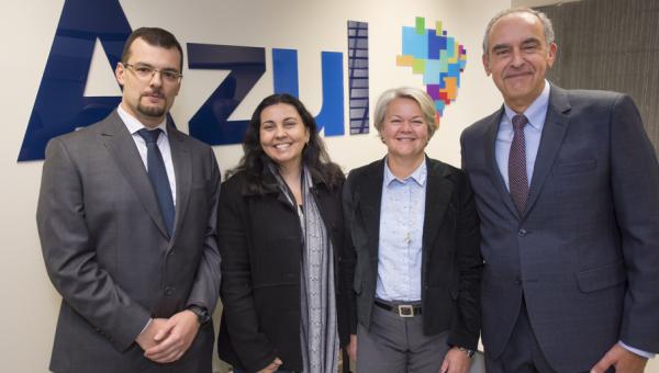 Sala de estudos da parceria entre PUCRS e Azul é inaugurada