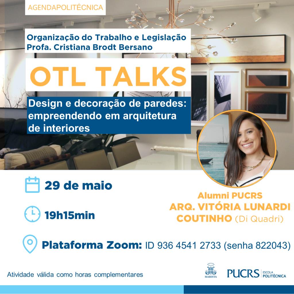 Live Otl Talks Empreendendo Em Arquitetura De Interiores Escola Politecnica
