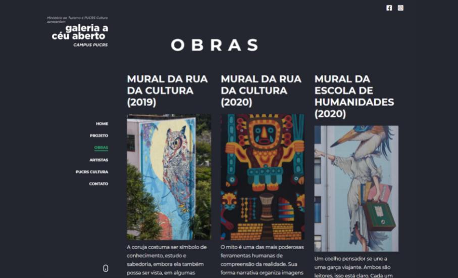 Galeria a Céu aberto: novo site apresenta referências e detalhes das obras