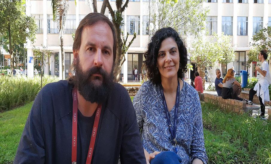 Professores Eduardo Seidl e Flávia de Quadros, da Escola de Comunicação, Artes e Design - Famecos / Foto: Sandro Fieira