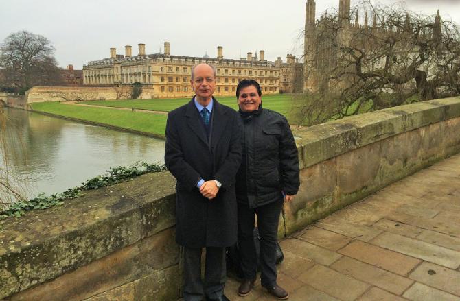 Joaquim Clotet e Thais Russomano em Cambridge