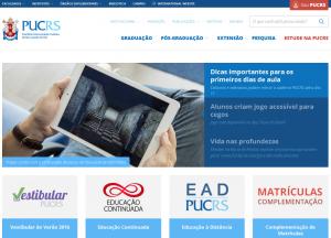 Capa do novo site da PUCRS