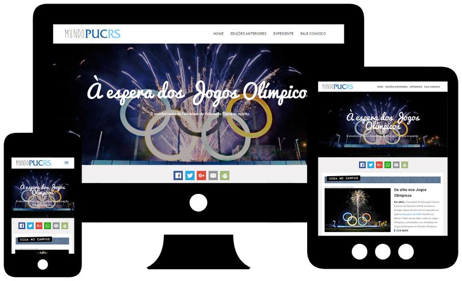 Novo site da Mundo PUCRS