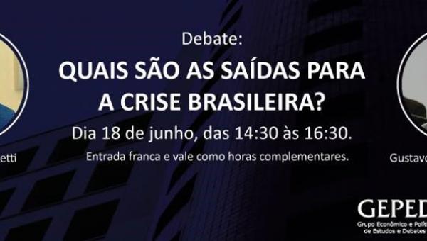 Evento discute saídas para a crise brasileira