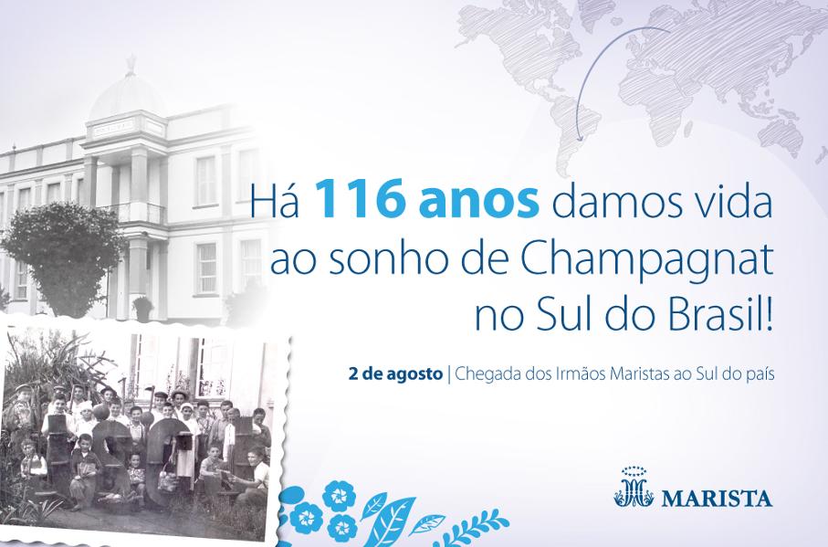 Card - Rede Marista celebra 116 anos de presença no Sul do Brasil