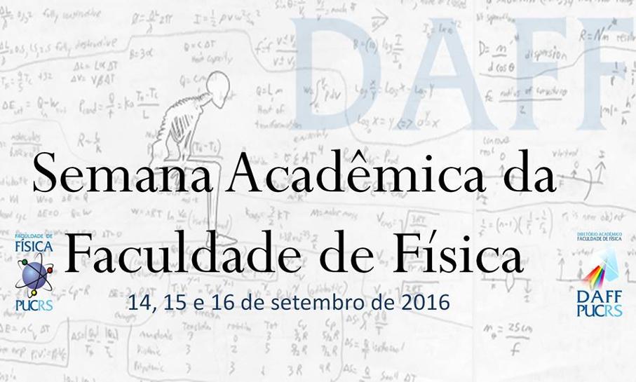 Semana Acadêmica da Faculdade de Física
